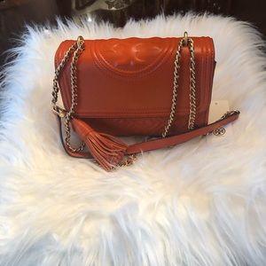 NWT- Tory Burch Small Fleming Convertible Handbag